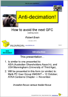 Anti-decimation slides
