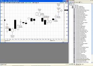 The Candle Pattern indicator and Layer Manager.